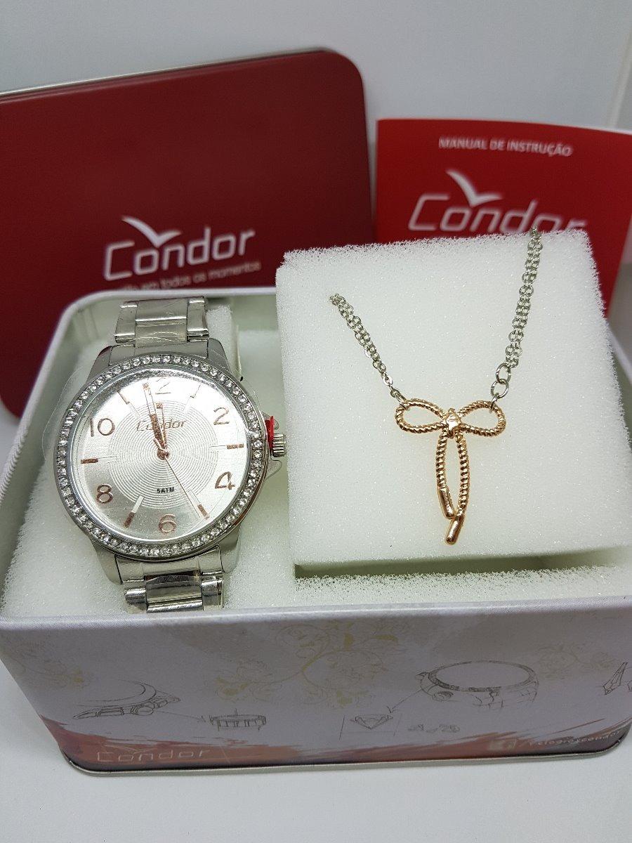 5dc5c02743e relógio condor feminino bracelete prata - co2035kwm k3k. Carregando zoom.