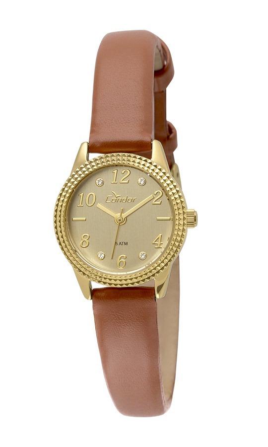 relógio condor feminino co2035ksd 3d dourado couro marrom. Carregando zoom. 2cb6c04c82