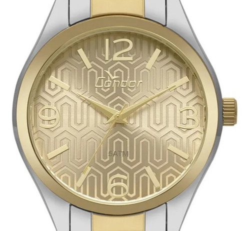 relógio condor feminino co2035kxt/k5d + kit brincos original