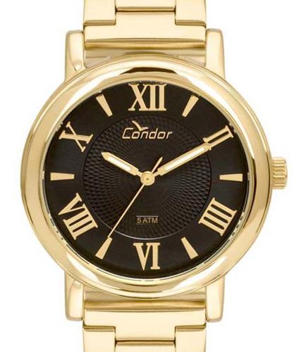 relógio condor feminino coal2036ch/k4p dourado c/ nf-e