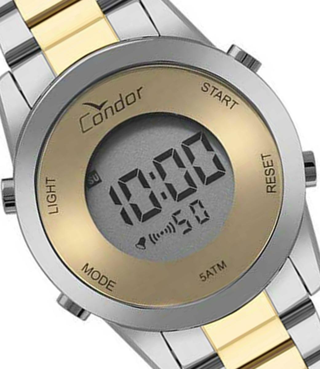 9f05d78aab4 relogio condor feminino digital dourado prata- cobj3279ac 5d. Carregando  zoom.