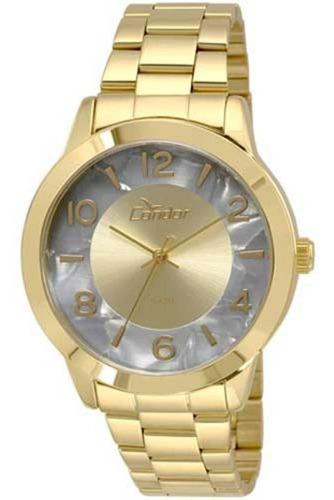 relógio condor feminino dourado co2035krj/4c