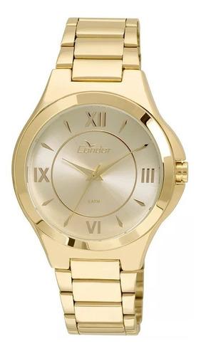 relógio condor feminino dourado romanos co2035kof/4d