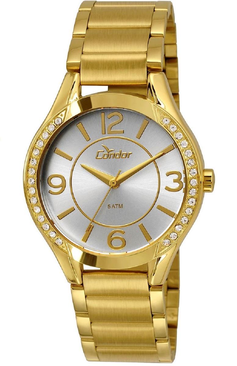 35a60441ca8 relógio condor feminino dourado strass ref  co2035krg 4b. Carregando zoom.