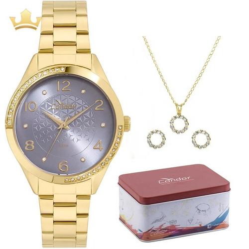 relógio condor feminino kit co2035kwa/k4a com nf