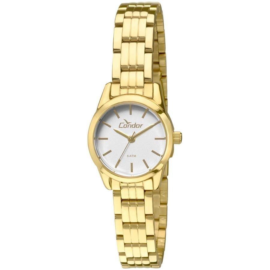 Relógio Condor Feminino Ref  Co2035kno 4c Mini Dourado - R  149,90 ... c6b93d2f20