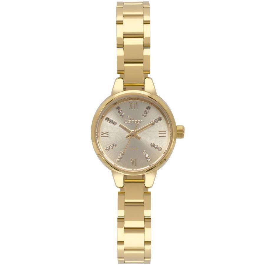 Relógio Condor Feminino Ref  Co2035kyj 4d Mini Dourado - R  149,90 ... 154954ce31