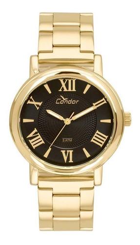 relógio condor feminino original coal2036ch/k4p dourado c/ nfe