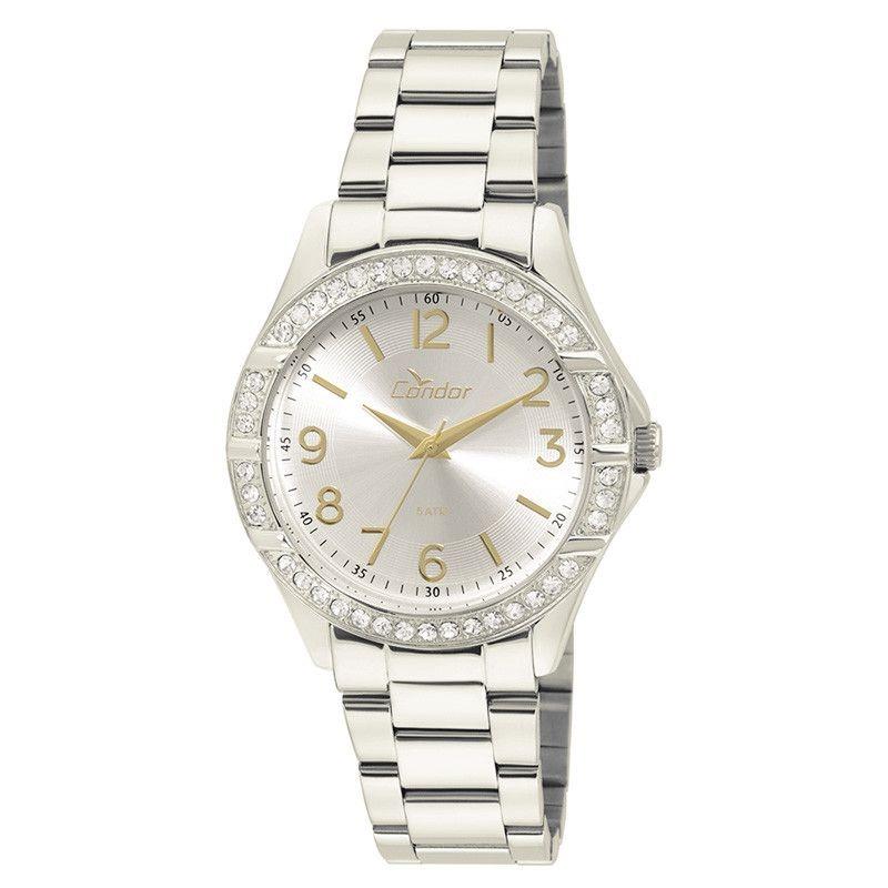 66f77c629c5 relógio condor feminino prata visor prata strass co2035ku 3k. Carregando  zoom.