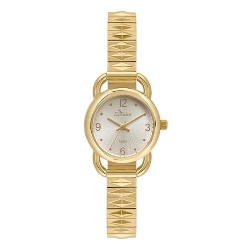 relógio condor feminino ref: co2035kxi/4k social dourado