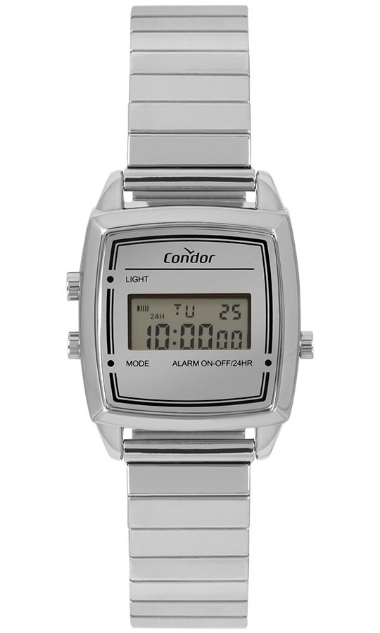 85a28695712 relógio condor feminino vintage digital cojh512ab 3k prata. Carregando zoom.