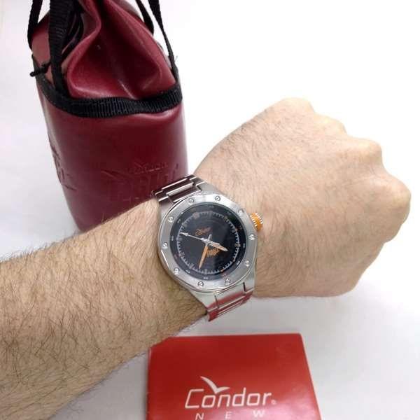 9291d1a8a1e Relógio Condor Fight Masculino Aço Maçico Ko25835p - R  287