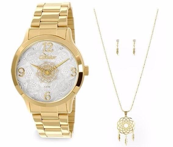 2c4758364f6 Relógio Condor Mandala Feminino+colar+brinco - Co2036ck 4b - R  149 ...
