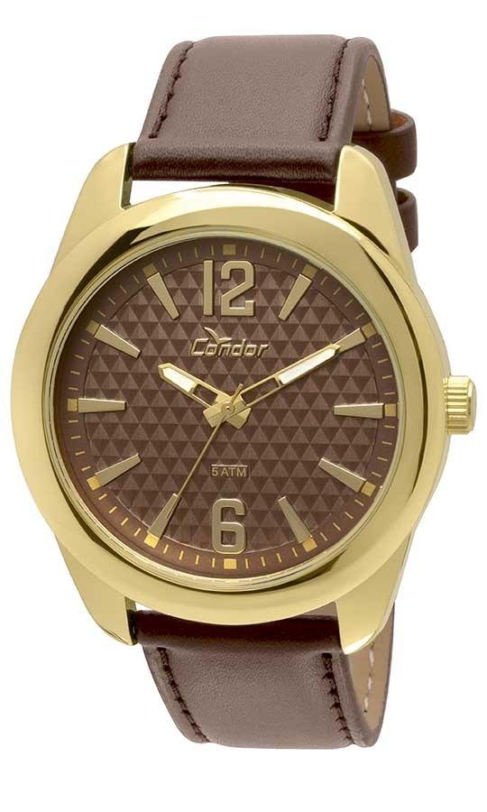 b8cced53ce2 Relógio Condor Masculino Co2036df 2m Dourado Couro Marrom - R  148 ...