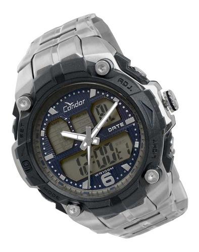 relógio condor masculino  anadigi esportivo coad09123p