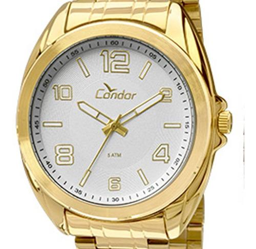relógio condor masculino banhado ouro 18k + brinde pulseira