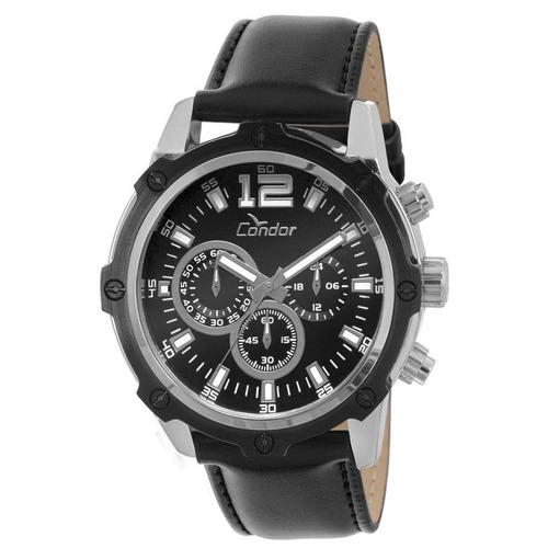 relógio condor masculino couro covd54ac/3p