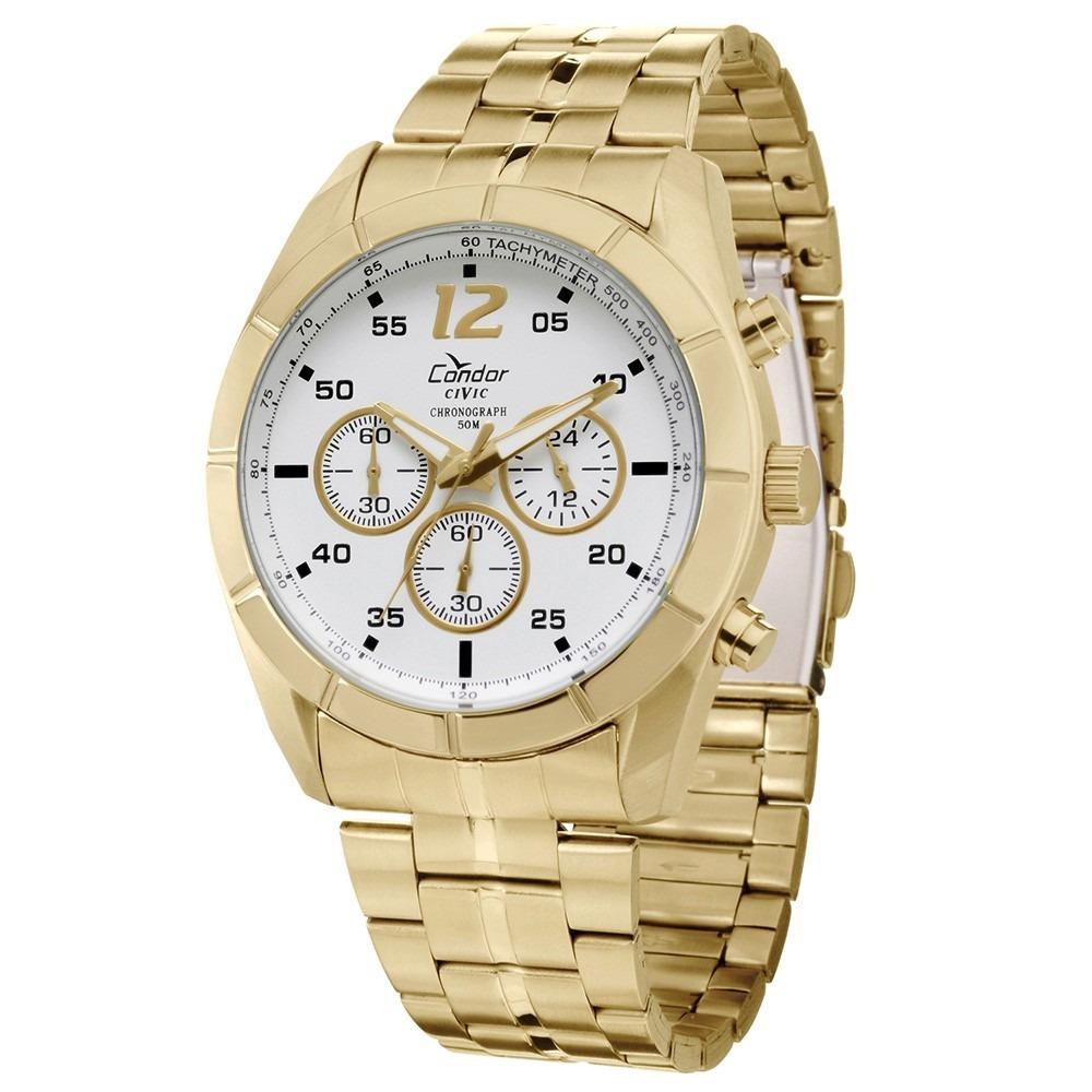 4d82f1e8042 relógio condor masculino dourado analógico - ky80141 4b. Carregando zoom.