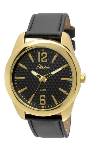 relógio condor masculino dourado co2036df/2p