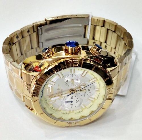 3962a4ba9f3 Relógio Condor Masculino Dourado Covd54an 4p - Lançamento - R  339 ...