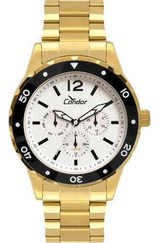 relógio condor masculino dourado ouro 18k caixa grande top