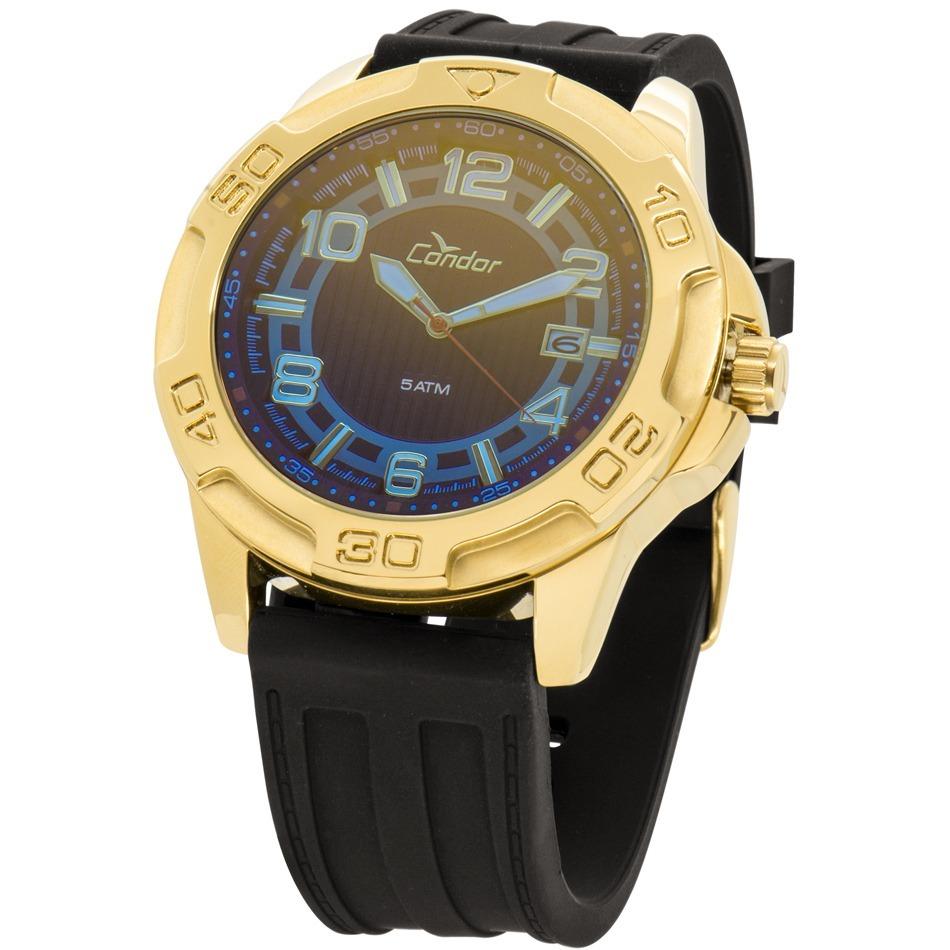 3d7760a7b11 relógio condor masculino dourado troca pulseiras co2415aj 4a. Carregando  zoom.