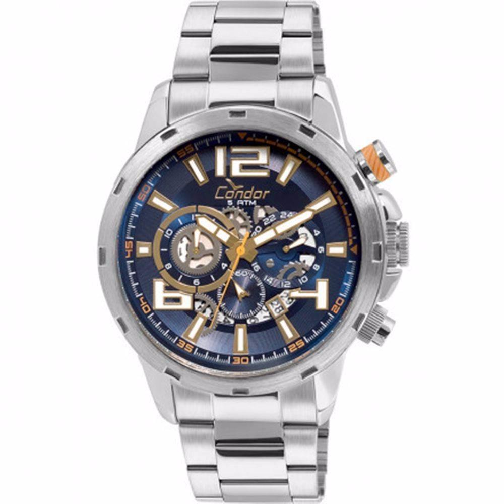 cb76ad17f9d relógio condor masculino em aço covd33ba 3a - loja oficial. Carregando zoom.