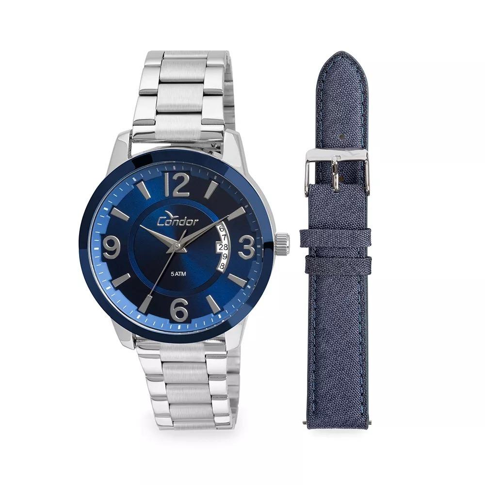fba32962de7 Relógio Condor Masculino Metal E Couro Co2115xv k5a - Prata