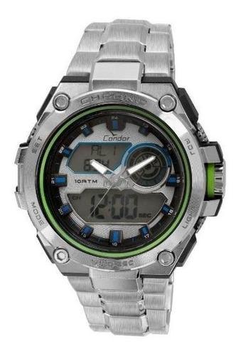 relógio condor masculino neon co1161a/3v - prata