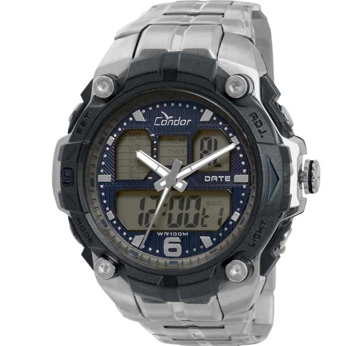 9c0b0b8b6ed relógio condor masculino prata anadigi esportivo coad0912 3p. Carregando  zoom.