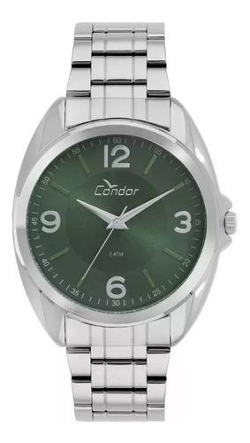 relógio condor masculino prata co2035kvh/k3v + chaveiro