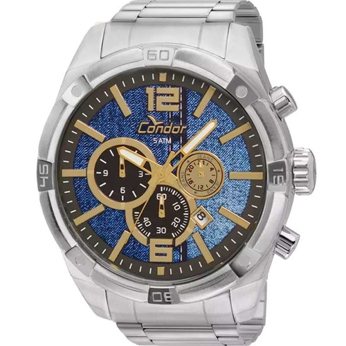 relógio condor masculino prata - covd33ag/3a