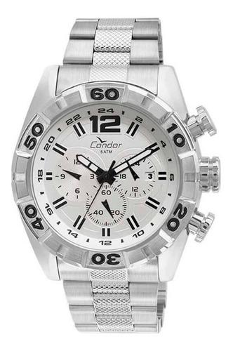 relógio condor masculino prata covd33au/3b loja autorizada