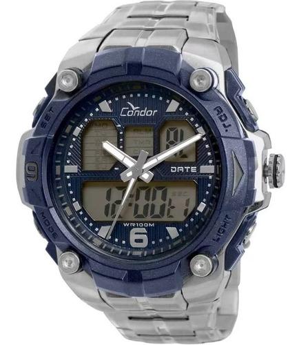 relógio condor masculino prata grande