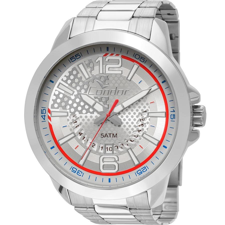 5713c123b5f relógio condor masculino prata original barato co2115xi 3k. Carregando zoom.