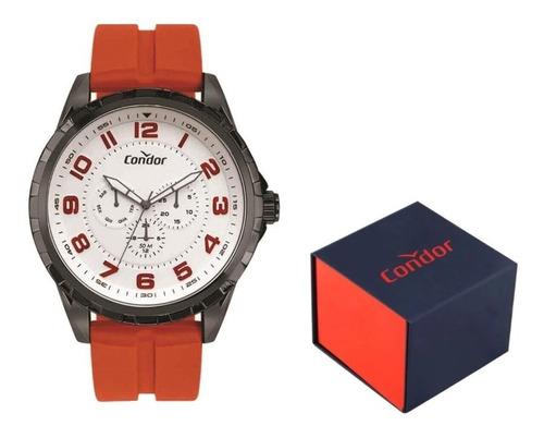 relógio condor orange calendário analógico co6p29jc original