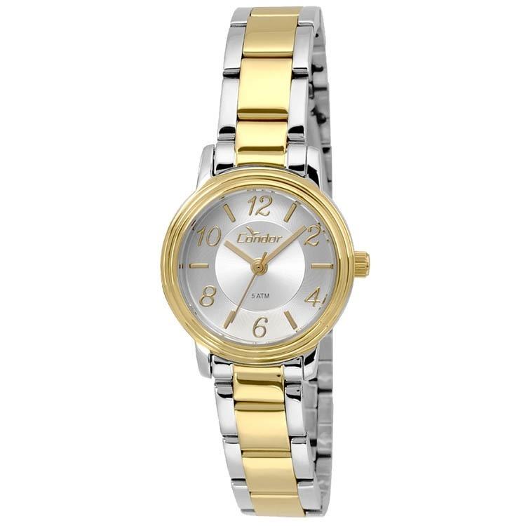 977d1f901be Relógio Condor Prata  Dourado Feminino Co2035krl 5k - R  176