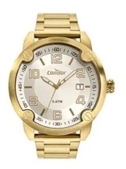 relógio condor stainless dourado co2415bq/4k original