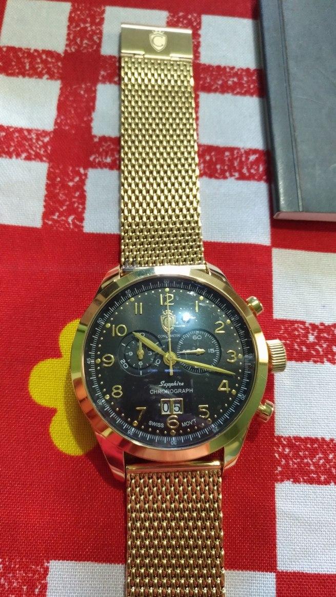 aa91328124f relógio constantim banhado em ouro. Carregando zoom.