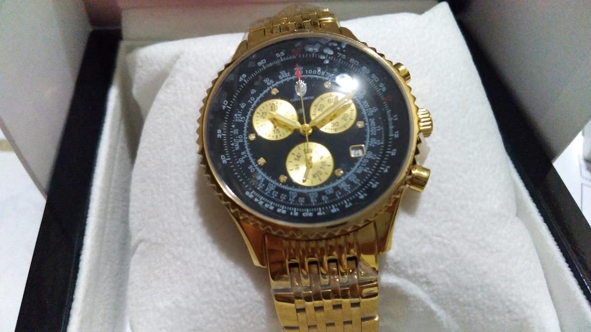 4decbe3f698 Relógio Constantim Chronograph Banh Ouro E 7 Pts - R  1.500