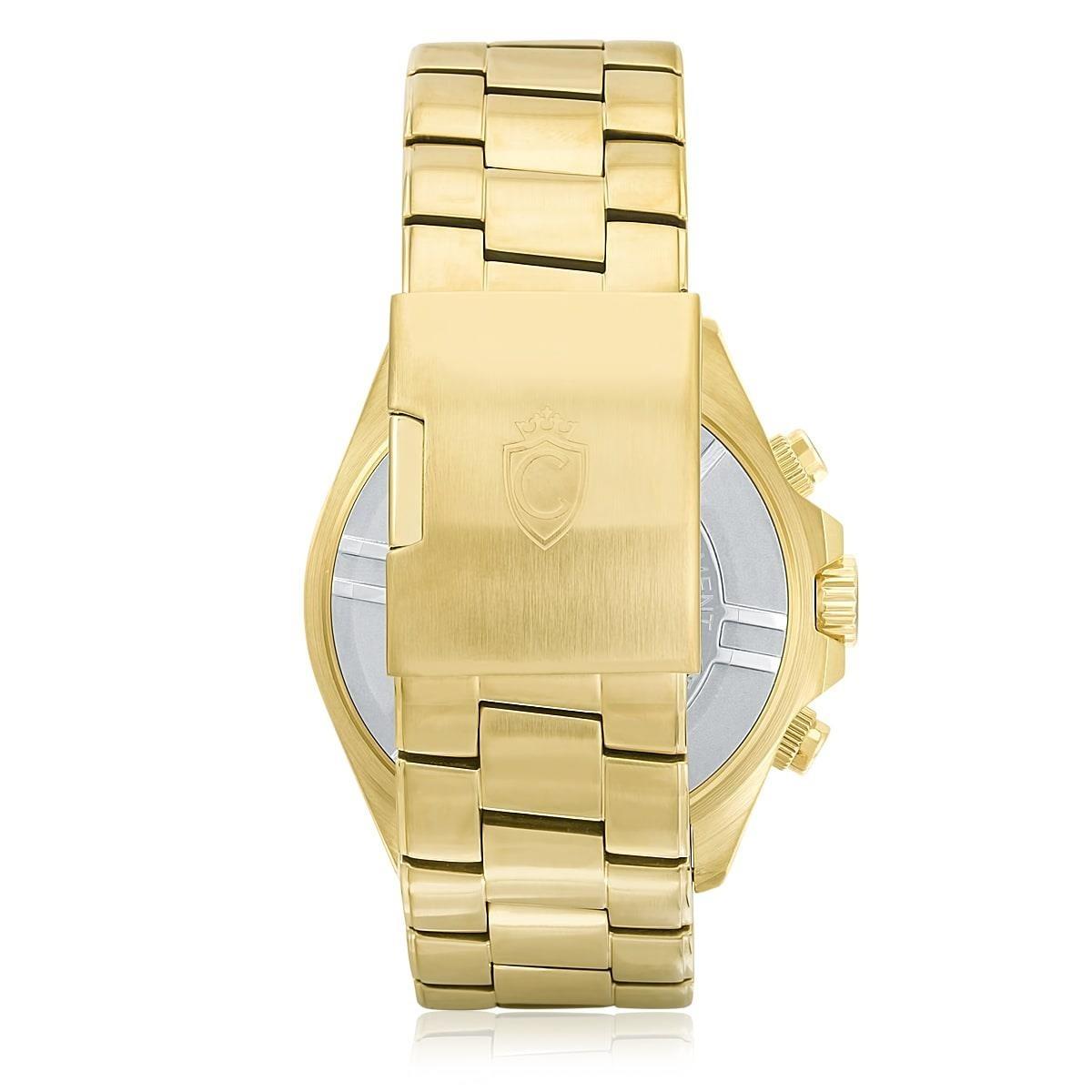 f8e7416fc5b relógio constantim chronograph gold black zw30198u dourado. Carregando zoom.
