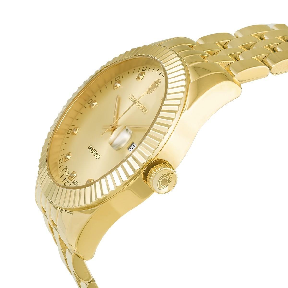 31feea12e22 relógio constantim diamond all gold dourado. Carregando zoom.