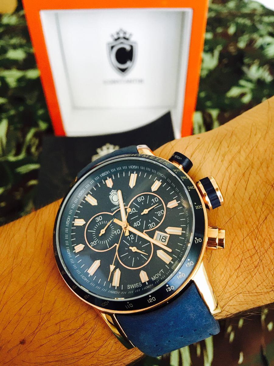 cd4512972ab3a Relógio Constantim Multifunção,visor De Safira E Na Garantia - R ...