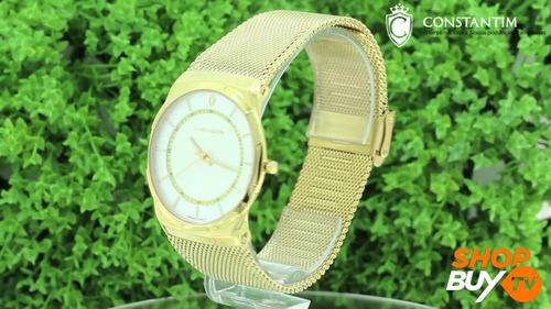relógio constantim slim gold !!