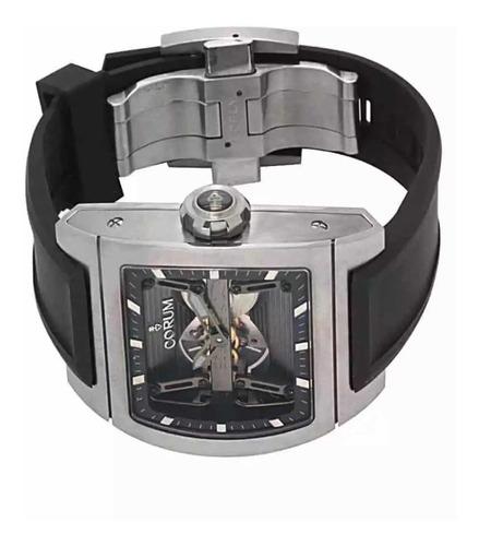 relógio corum ti-bridge dual winder titanium original novo