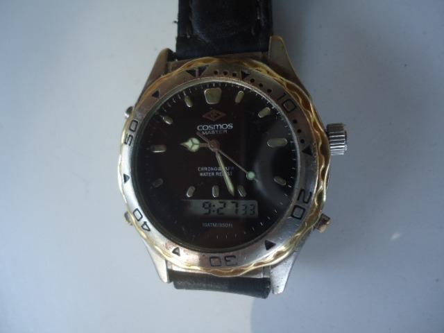 d091a6de833 Relógio Cosmos Analógico E Digital Cronógrafo Masculino - R  130