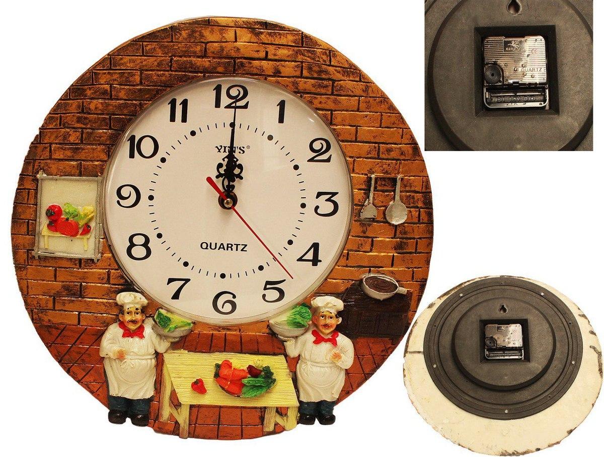 d22f57fbbf0 relógio cozinha parede redondo analógico cozinheiros. Carregando zoom.