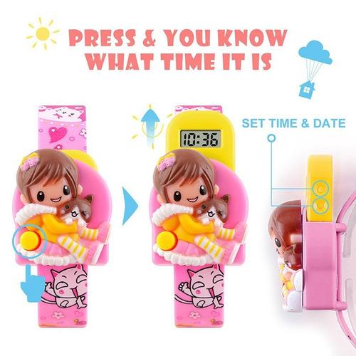 relógio criança menino menina infantil digital calendário