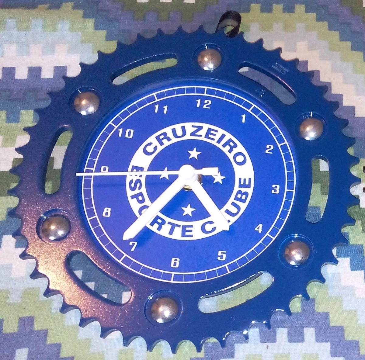 0bba69e3d0e Relógio Cruzeiro Futebol Clube (zero) C  Coroa De Moto Azul. - R  60 ...