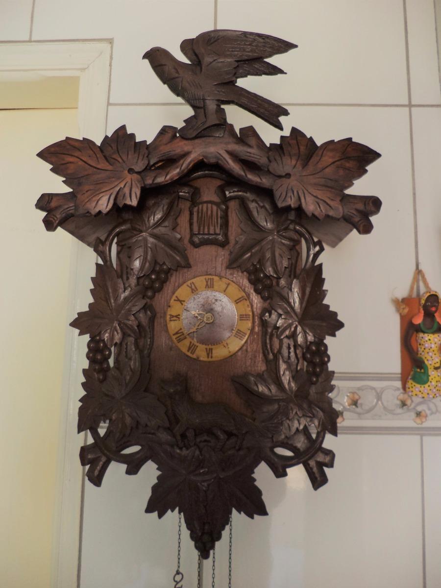 e32622478fa Relógio Cuco Antigo Marca Rei Raro Lenda Raposa - R  1.890
